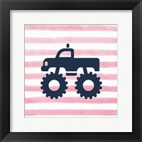 Framed Monster Truck Graphic Pink Part III