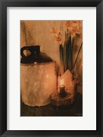 Framed Daffodils by Candlelight