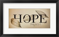 Framed Hope - Hang On to It