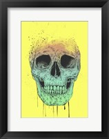 Framed Pop Art Skull