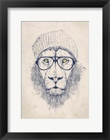 Framed Cool Lion