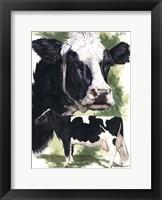 Framed Holstein Cow