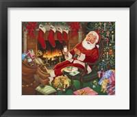 Framed Santa's Break