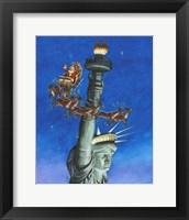 Framed Santa Visits Lady Liberty