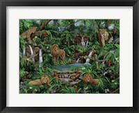 Framed Peaceful Jungle