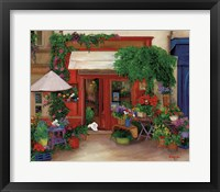 Framed Red Flower Shop