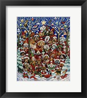Framed Santa Paws
