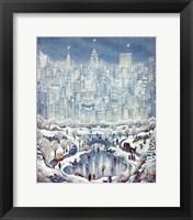 Framed Central Park Snow