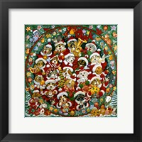 Framed Santa Paws Christmas