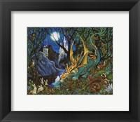 Framed Moon Dragon