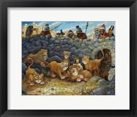 Framed Daniel In Lions Den