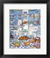 Framed Bathroom Pups
