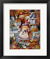 Framed Kitty Kitchen Witch 2