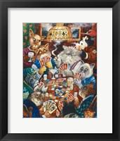 Framed Poker Cats