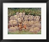Framed Noah - Elephants-Rhinos-Hippos