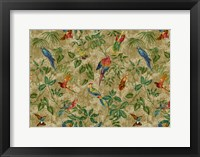 Framed Antiqued Aviary Tobacco