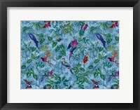 Framed Aviary Blue