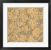 Framed Floral Waltz Mono Sand Straw