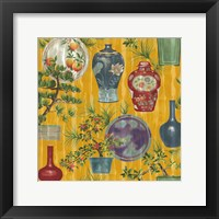 Framed Japanese Vases Gold1