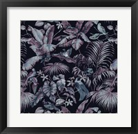 Framed Jungle Canopy Midnight