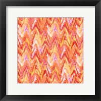 Framed Wavy Stripe Poppy