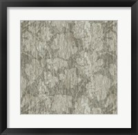 Framed Floral Waltz Mono Taupe Oyster