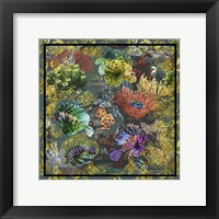Framed Golden Coral Seas