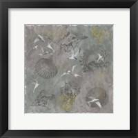 Framed Foggy Sea Terns