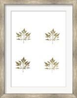 Framed 4-Up Gold Foil Leaf I