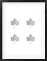 Framed 4-Up Silver Foil Leaf IV