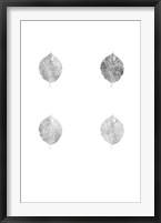 Framed 4-Up Silver Foil Leaf V