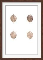 Framed 4-Up Rose Gold Foil Leaf V