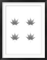 Framed 4-Up Silver Foil Leaf VI