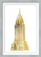 Framed Gold Foil Chrysler