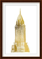 Framed Gold Foil Chrysler