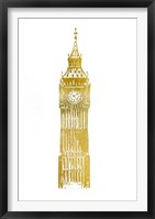 Framed Gold Foil Big Ben