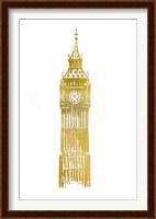 Framed Gold Foil Big Ben