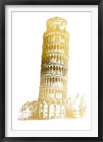 Framed Gold Foil Pisa