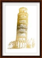 Framed Gold Foil Pisa