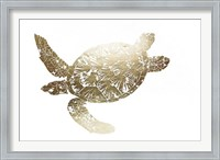 Framed Gold Foil Sea Turtle II