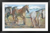 Framed Caballos en la Playa