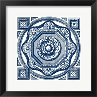 Framed Indigo Medallion I