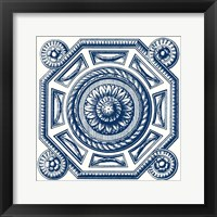 Framed Indigo Medallion II