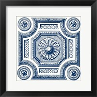 Framed Indigo Medallion III