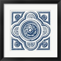 Framed Indigo Medallion VI