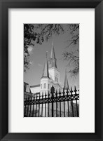 Framed St. Louis Cathedral, Jackson Square II
