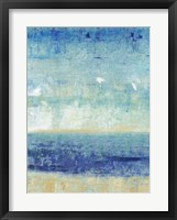Beach Horizon I Framed Print