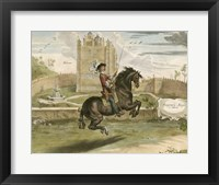 Framed English Horseman I