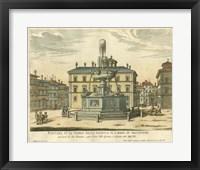 Framed Italian Fountain II