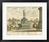 Framed Italian Fountain III